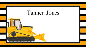 CONSTRUCTION EQUIPMENT PERSONALIZED GIFT OR CALLING CARDS