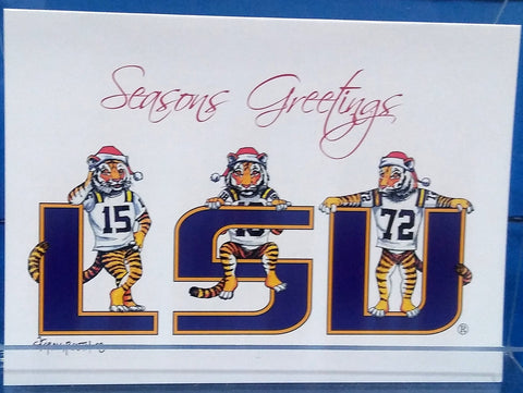 LSU CHRISTMAS TIGERS BOXED GREETING CARDS
