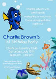 DORY THE FISH CUSTOM INVITATION