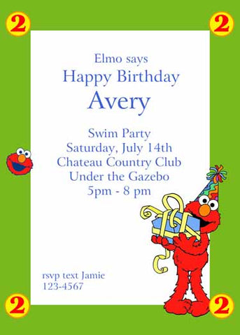 ELMO BIRTHDAY CUSTOM INVITATION