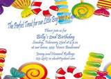 CANDY PIECES CUSTOM INVITATION