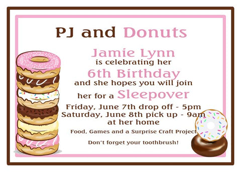 STACK OF DONUTS CUSTOM INVITATION