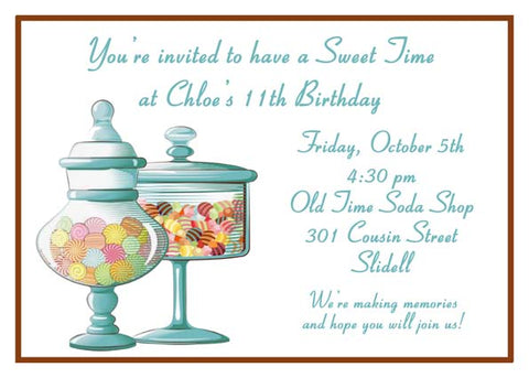 JARS OF CANDY CUSTOM INVITATION