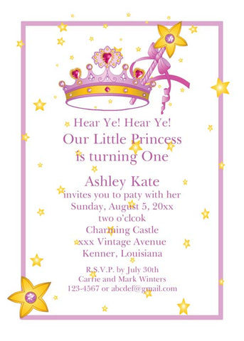 CROWN AND SEPTOR CUSTOM INVITATION