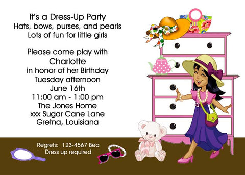 DRESS UP TIME CUSTOM INVITATION