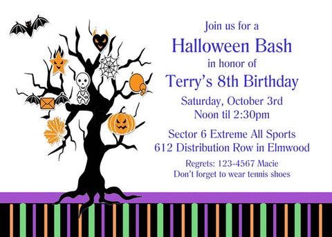 HALLOWEEN TREE CUSTOM INVITATION