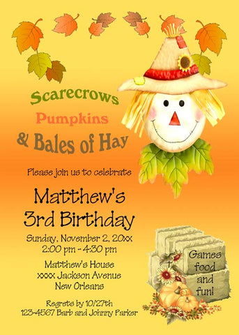 SCARECROW CUSTOM INVITATION