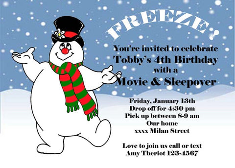 FROSTY THE SNOWMAN 2 CUSTOM INVITATION