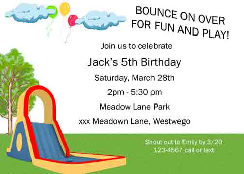 BOUNCE CASTLE CUSTOM INVITATION