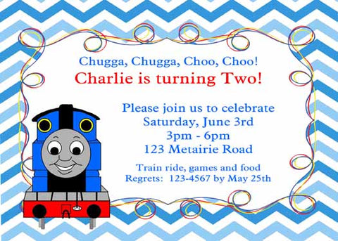 THOMAS THE TRAIN CUSTOM INVITATION