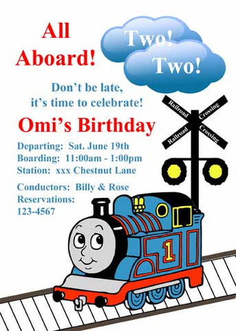 THE TRAIN THOMAS CUSTOM INVITATION