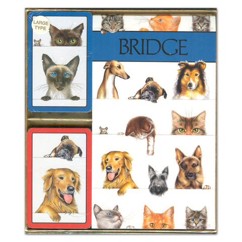 CASPARI DOGS AND CATS JUMBO INDEX BRIDGE GIFT SET