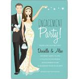 ENGAGEMENT PARTY BRUNETTE COUPLE - BLANK STOCK INVITATIONS