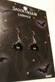 BLACK WHIMSICAL SPIDER EARRINGS