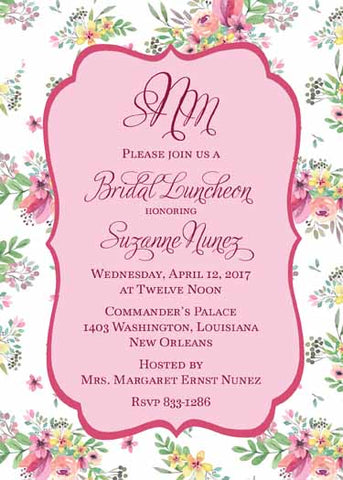 SPRING FLORAL BACKGROUND CUSTOM INVITATION