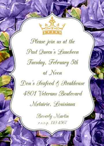 PURPLE FLOWERS CUSTOM INVITATION