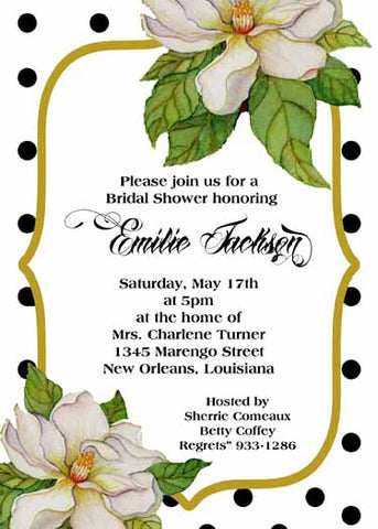 MAGNOLIA CORNERS CUSTOM INVITATION