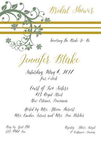 LEAFY BRANCH CUSTOM INVITATION