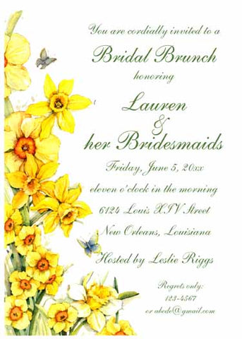 YELLOW DANDELIONS CUSTOM INVITATION