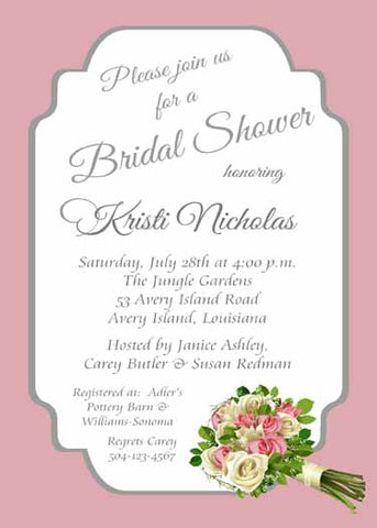 FLORAL BOUQUET CUSTOM INVITATION