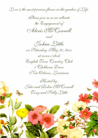 FLORAL MIX CUSTOM INVITATION