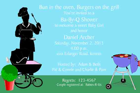 BBQ DAD-TO-BE CUSTOM INVITATION