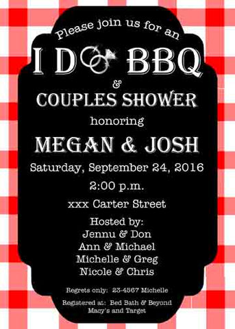 I DO BBQ CUSTOM INVITATION