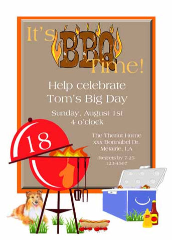 BBQ PIT CUSTOM INVITATION