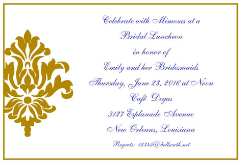 ORNATE FLEUR DE LIS 2 CUSTOM INVITATION