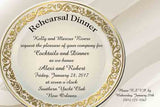GOLD FILAGREE PLATE CUSTOM INVITATION