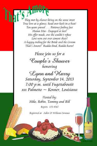 THAT'S AMORE CUSTOM INVITATION