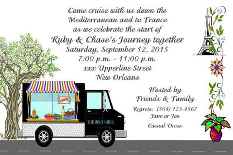 MEDITERRANEAN FOOD TRUCK CUSTOM INVITATION