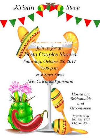 LARGE MARGARITA CUSTOM INVITATION