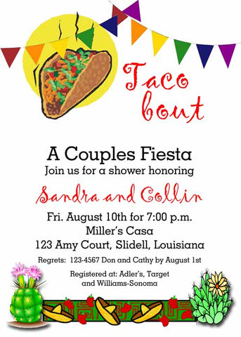 TACO 'BOUT CUSTOM INVITATION