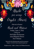 CINCO DE MAYO FLOWERS CUSTOM INVITATION