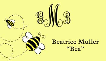 BEES PERSONALIZED GIFT OR CALLING CARDS