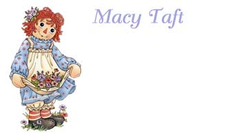 RAGGEDY ANN DOLL PERSONALIZED GIFT OR CALLING CARDS