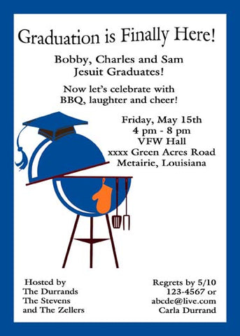 GRADUATION BBQ CUSTOM INVITATION