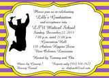 STRIPED GRADUATION CUSTOM INVITATION