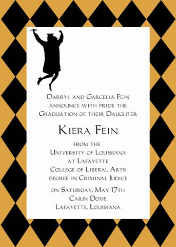 JUMPING FOR GRADUATION CUSTOM INVITATION