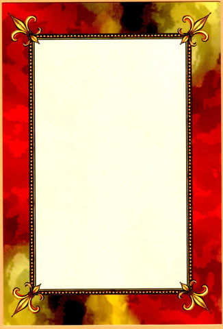 RED AND GOLD FDL - BLANK STOCK INVITATION