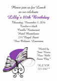 PURPLE HAT CUSTOM INVITATION
