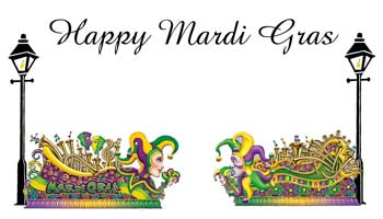 MARDI GRAS FLOATS PERSONALIZED GIFT OR CALLING CARDS
