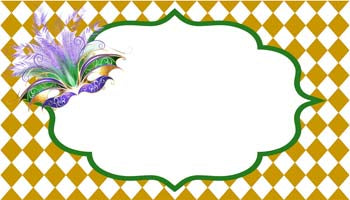 MARDI GRAS MASK PERSONALIZED GIFT OR CALLING CARDS