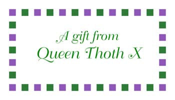BORDER OF MARDI GRAS COLORED SQUARES PERSONALIZED GIFT OR CALLING CARDS