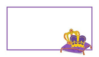 MARDI GRAS CROWNS ON A PILLOW PERSONALIZED GIFT OR CALLING CARDS