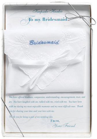 BRIDESMAID KEEPSAKE HANDKERCHIEF