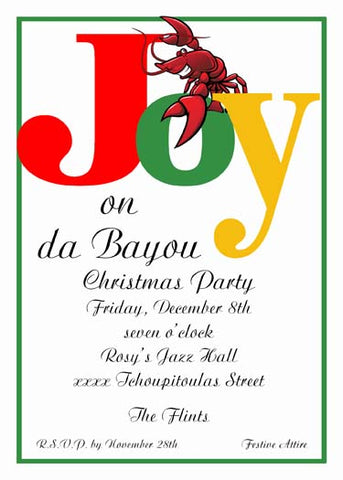 JOYFUL CRAWFISH CUSTOM INVITATION
