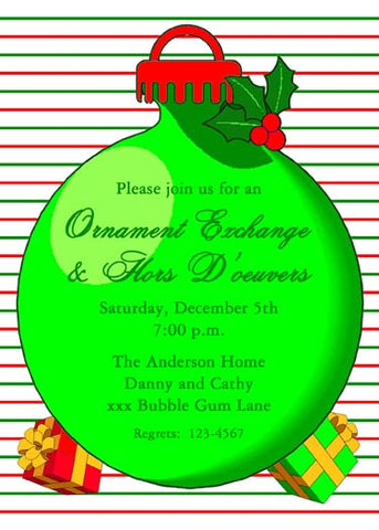 LARGE ORNAMENT AND GIFTS CUSTOM INVITATION
