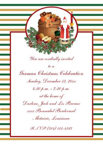 OLD WORLD SANTA 2 CUSTOM INVITATION